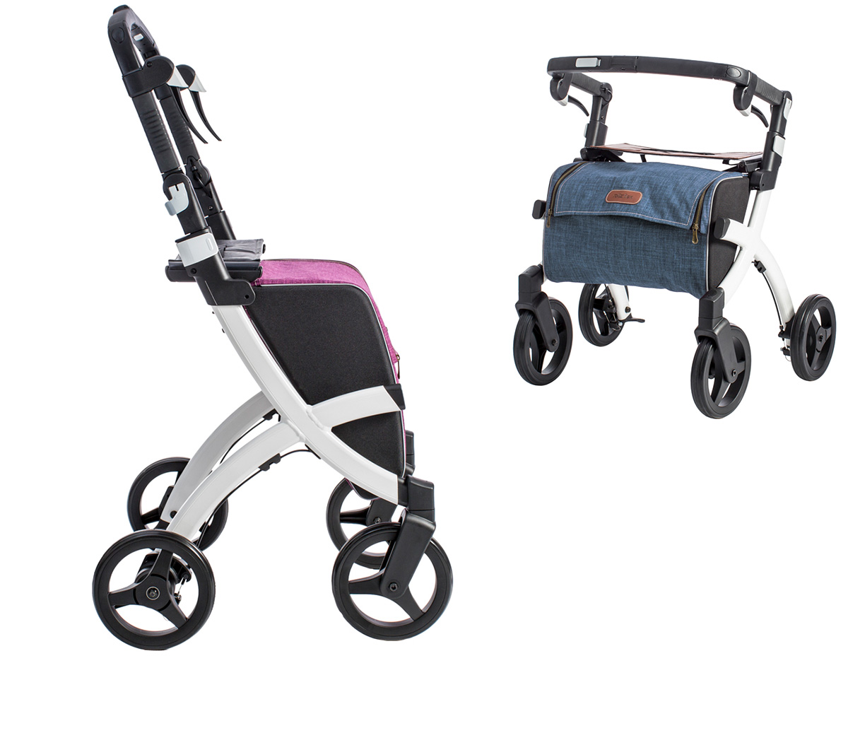 Rollz rollators come in two sizes: regular and small