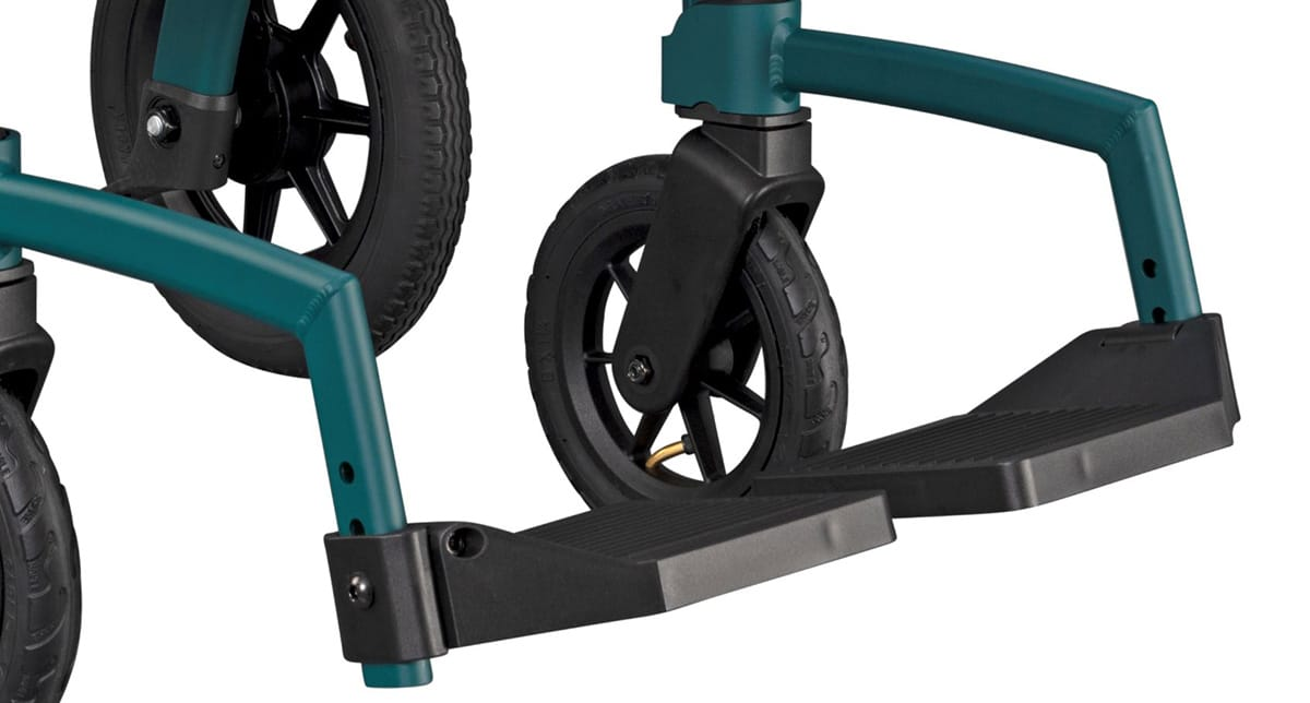 Adjustable footrests of the Rollz Motion Performance wheelchair